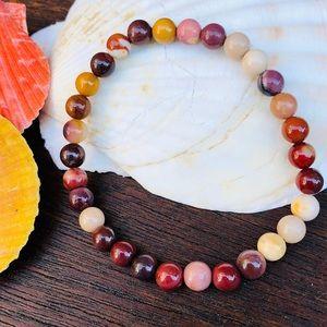 Jewelry - ✨MOOKAITE JASPER STONE BEAD BRACELET✨